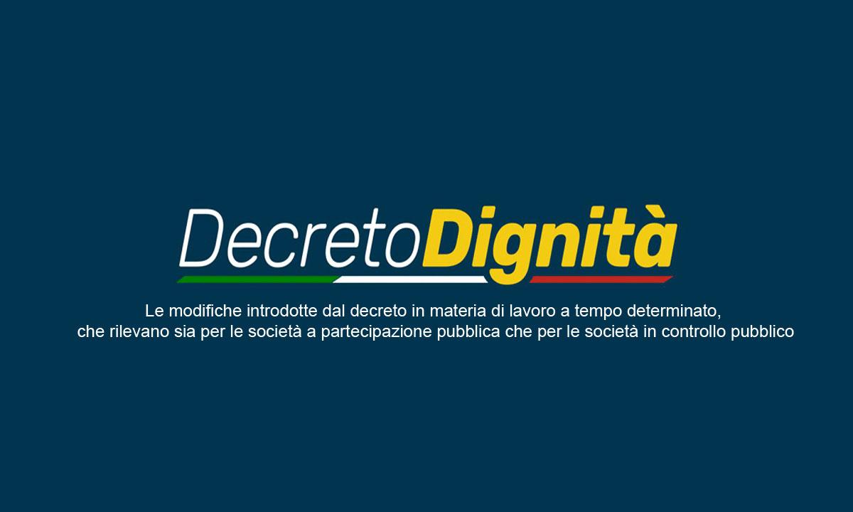 Protetto DECRETO DIGNITA' – CONVERSIONE IN LEGGE