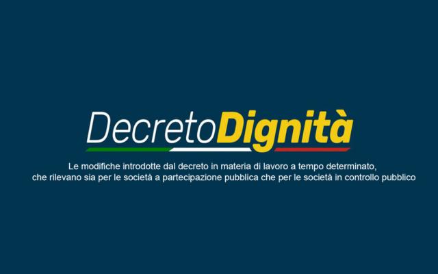 Protetto: DECRETO DIGNITA' – CONVERSIONE IN LEGGE