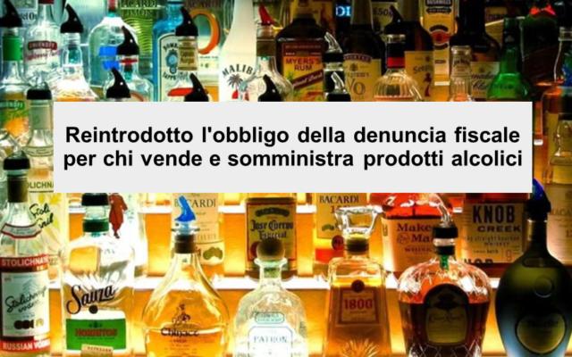 Protetto: Vendita e somministrazione di prodotti alcolici – obbligo di denuncia fiscale – nota dell'Agenzia delle dogane