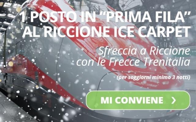 """SFRECCIA IN """"PRIMA FILA"""" AL RICCIONE ICE CARPET"""