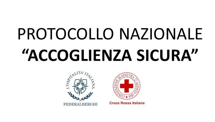 """Protetto PROTOCOLLO NAZIONALE """"ACCOGLIENZA SICURA"""" – MISURE DI PREVENZIONE DELLA DIFFUSIONE DEL VIRUS SARS-COV-2 NELLE STRUTTURE TURISTICO RICETTIVE"""
