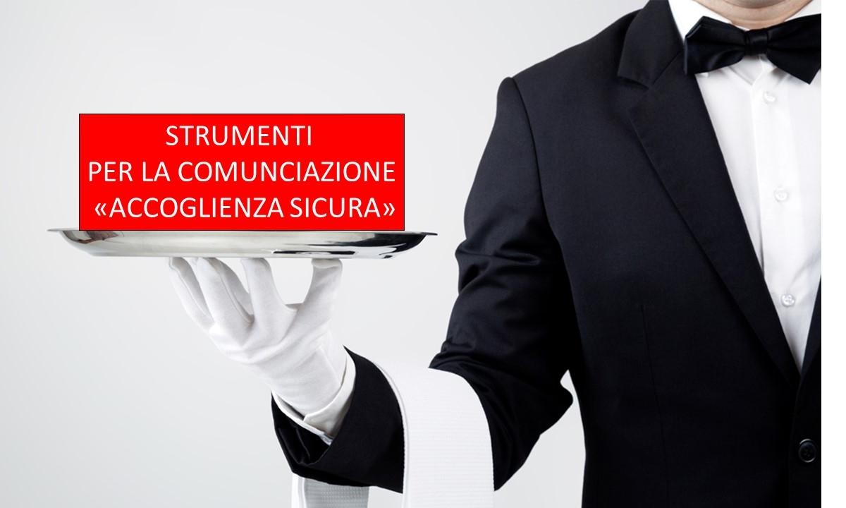 """Protetto Cartellonistica """"Accoglienza Sicura"""": Marchio e Strumenti per la comunicazione (multilingua)"""