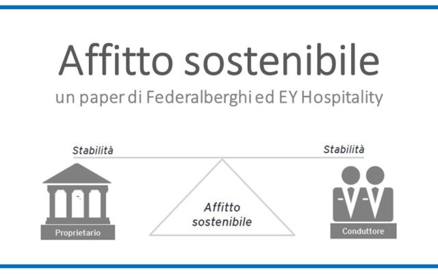 Protetto: AFFITTO SOSTENIBILE – un paper di Federalberghi ed EY Hospitality