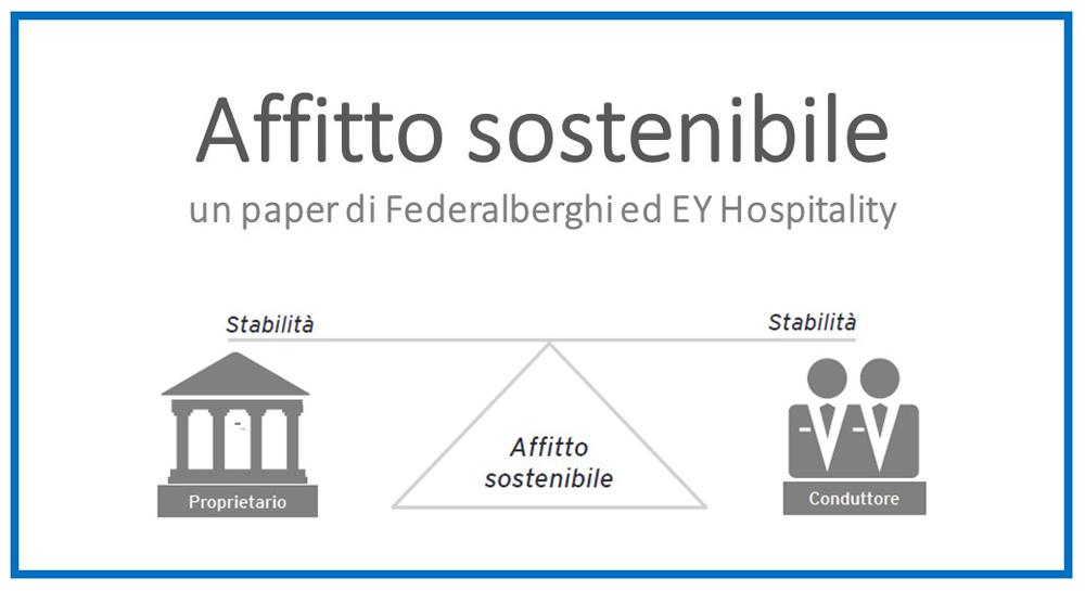 Protetto AFFITTO SOSTENIBILE – un paper di Federalberghi ed EY Hospitality