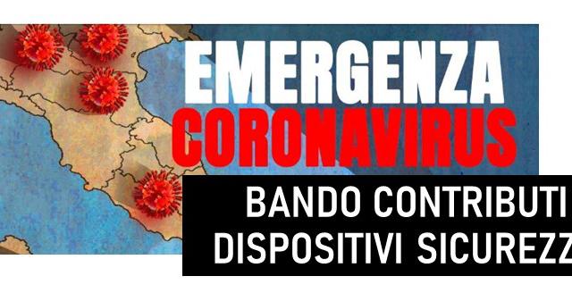 Protetto Covid-19: Bando per la ripresa delle attività in sicurezza a seguito dell'emergenza