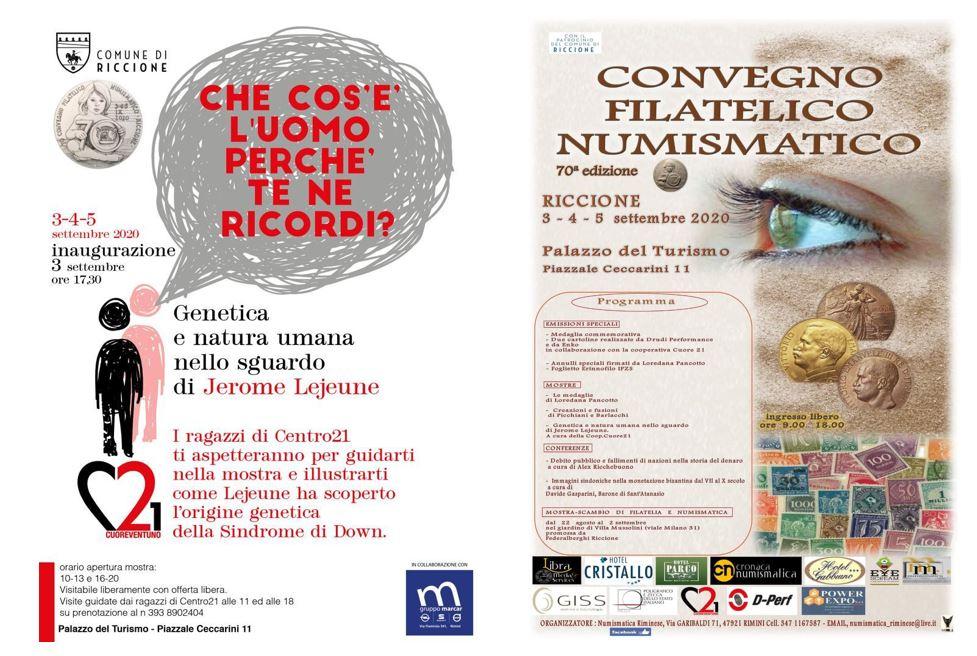 """Mostra """"Genetica e natura umana nello sguardo di Jerome Lejeune"""" e 70° Convegno Filatelico Numismatico"""
