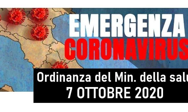 Protetto COVID19 – Ordinanza del Ministro della salute 7 ottobre 2020 | Proroga dello stato di emergenza e delle misure di contenimento