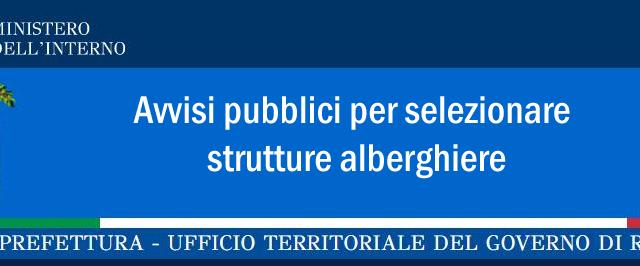 Protetto Avvisi pubblici per selezionare strutture alberghiere – Prefettura Rimini