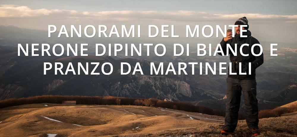 Escursione 18 dicembre 2020 – Panorami del Monte Nerone dipinto di bianco e pranzo da Martinelli