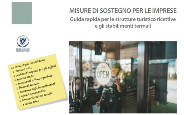 Protetto Misure di sostegno per le imprese – guida rapida per le strutture turistico ricettive e gli stabilimenti termali (nuova edizione)