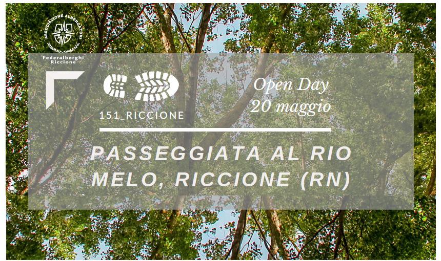 PASSEGGIATA AL RIO MELO (Riccione) giovedì 20 maggio 2021