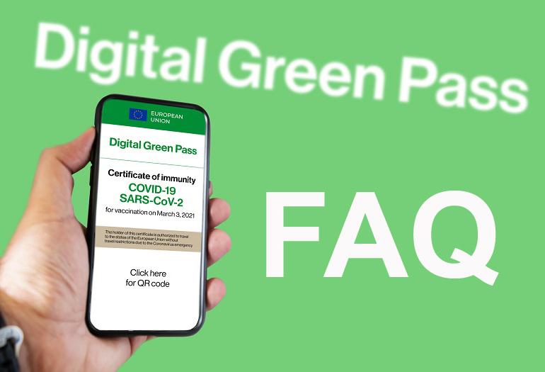 Protetto FAQ relative al green pass