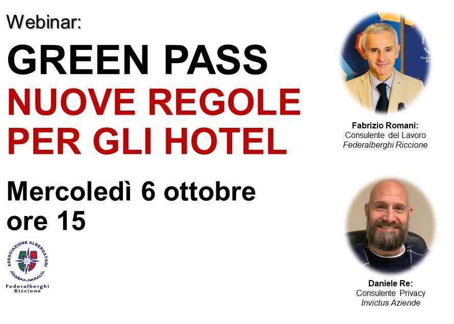 Protetto GREEN PASS: nuove regole per gli Hotel in vigore dal 15 ottobre (VIDEO del webinar)