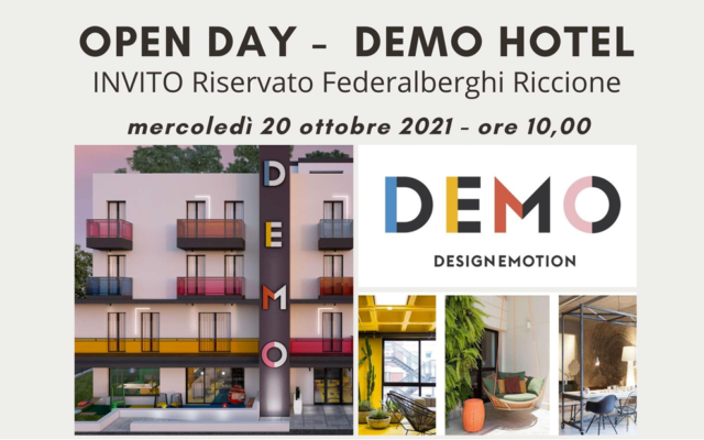 Open day DEMO Hotel – riservato Federalberghi Riccione